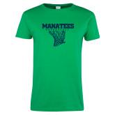Ladies Kelly Green T Shirt-Basketball