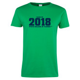 Ladies Kelly Green T Shirt-Class of Design, Personalized year