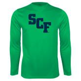 Performance Kelly Green Longsleeve Shirt-SCF