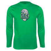 Performance Kelly Green Longsleeve Shirt-SCF Manatees
