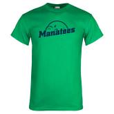 Kelly Green T Shirt-Manatees