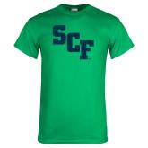 Kelly Green T Shirt-SCF Distressed