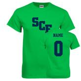 Kelly Green T Shirt-SCF, Custom Tee w/ Name and #