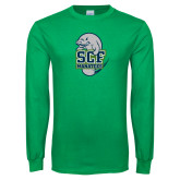Kelly Green Long Sleeve T Shirt-SCF Manatees