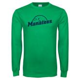 Kelly Green Long Sleeve T Shirt-Manatees