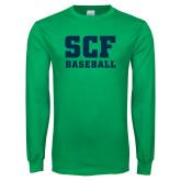 Kelly Green Long Sleeve T Shirt-Baseball