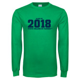 Kelly Green Long Sleeve T Shirt-Class of Design, Personalized year