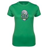 Ladies Syntrel Performance Kelly Green Tee-SCF Manatees