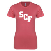 Next Level Ladies SoftStyle Junior Fitted Pink Tee-SCF