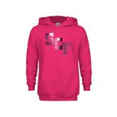 Youth Raspberry Fleece Hoodie-SCF  Foil