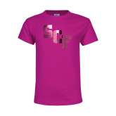 Youth Cyber Pink T Shirt-SCF  Foil
