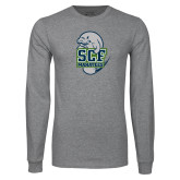 Grey Long Sleeve T Shirt-SCF Manatees