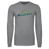 Grey Long Sleeve T Shirt-Manatees
