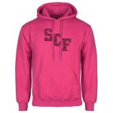 Fuchsia Fleece Hoodie-SCF Hot Pink Glitter