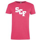 Ladies Fuchsia T Shirt-SCF