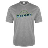 Performance Grey Heather Contender Tee-Manatees