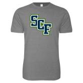 Next Level SoftStyle Heather Grey T Shirt-SCF