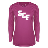 Ladies Syntrel Performance Raspberry Longsleeve Shirt-SCF