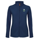 Ladies Fleece Full Zip Navy Jacket-SCF Manatees