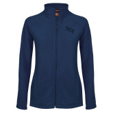 Ladies Fleece Full Zip Navy Jacket-SCF