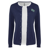 Ladies Navy Cardigan-SCF