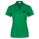 Ladies Kelly Green Performance Fine Jacquard Polo-SCF
