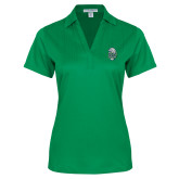 Ladies Kelly Green Performance Fine Jacquard Polo-SCF Manatees