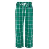 Green/White Flannel Pajama Pant-SCF