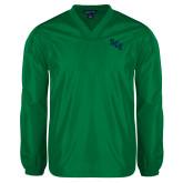 V Neck Kelly Green Raglan Windshirt-SCF
