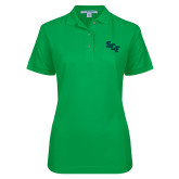 Ladies Easycare Kelly Green Pique Polo-SCF