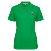 Ladies Easycare Kelly Green Pique Polo-SCF Manatees