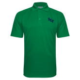 Kelly Green Textured Saddle Shoulder Polo-SCF