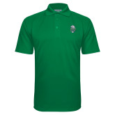 Kelly Green Textured Saddle Shoulder Polo-SCF Manatees