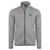 Grey Heather Fleece Jacket-SCF