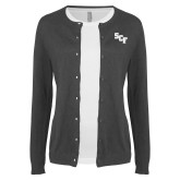 Ladies Charcoal Cardigan-SCF