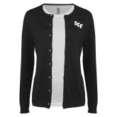 Ladies Black Cardigan-SCF