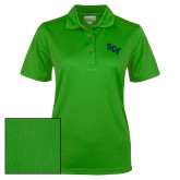 Ladies Kelly Green Dry Mesh Polo-SCF