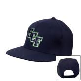 Navy Flat Bill Snapback Hat-SCF