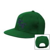 Kelly Green Flat Bill Snapback Hat-SCF