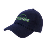 Navy Twill Unstructured Low Profile Hat-Manatees