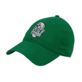 Kelly Green Twill Unstructured Low Profile Hat-SCF Manatees