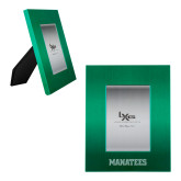 Kelly Green Brushed Aluminum 3 x 5 Photo Frame-Manatees  Engraved