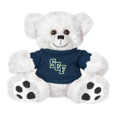 Plush Big Paw 8 1/2 inch White Bear w/Navy Shirt-SCF