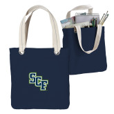 Allie Navy Canvas Tote-SCF