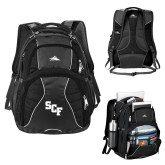 High Sierra Swerve Black Compu Backpack-SCF