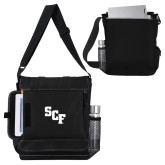Impact Vertical Black Computer Messenger Bag-SCF
