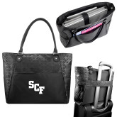 Sophia Checkpoint Friendly Black Compu Tote-SCF