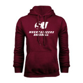 Maroon Fleece Hood-Baseball
