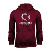 Maroon Fleece Hoodie-Tennis Design