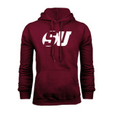 Maroon Fleece Hood-SU